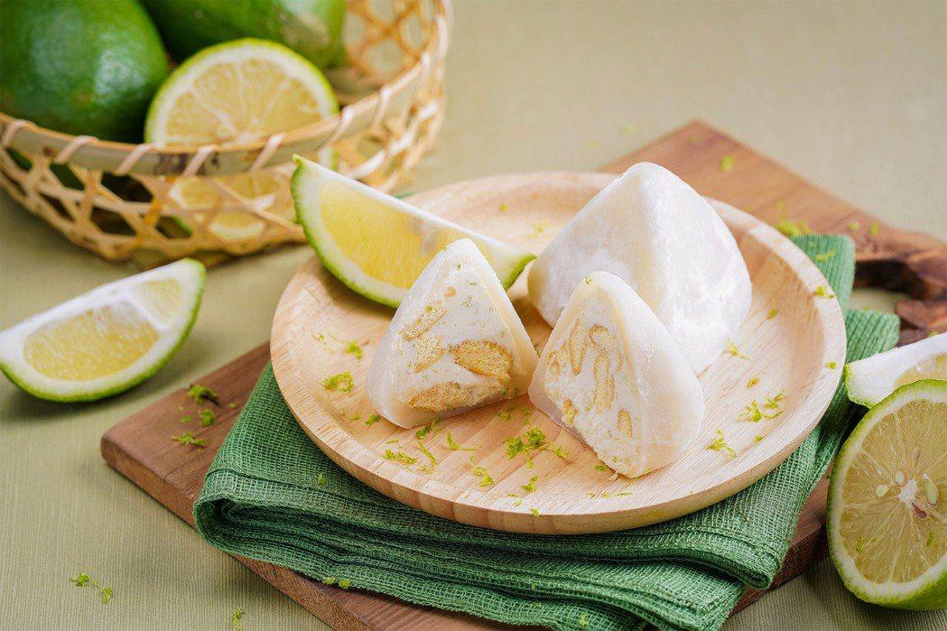 蒸健康花菓子冰粽蜂蜜檸檬乳酪口味。業者/提供