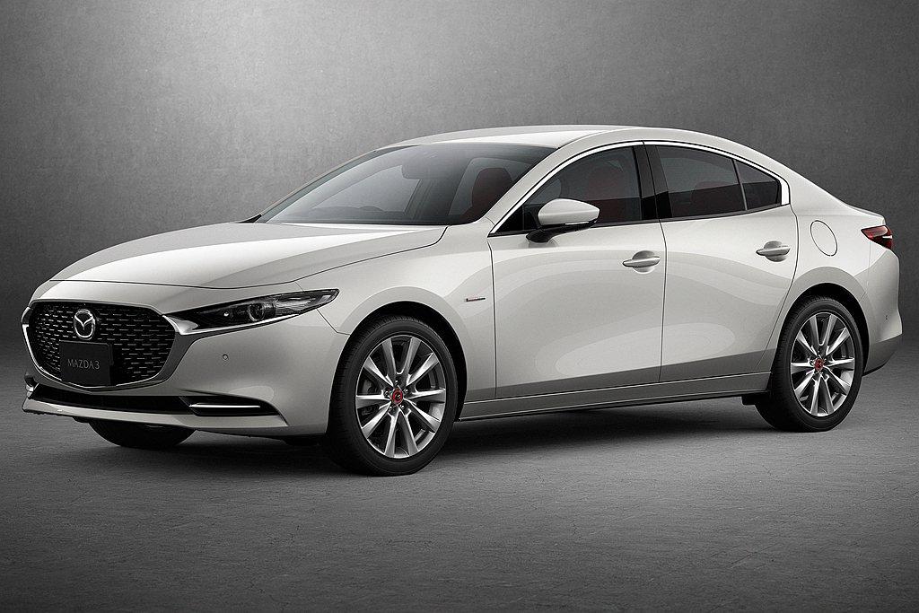 日規Mazda 3房車新增動力規格,使價格更具有競爭力。 圖/Mazda提供