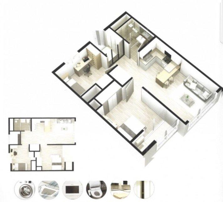原PO喜歡的房型3D圖。圖/取自mobile01