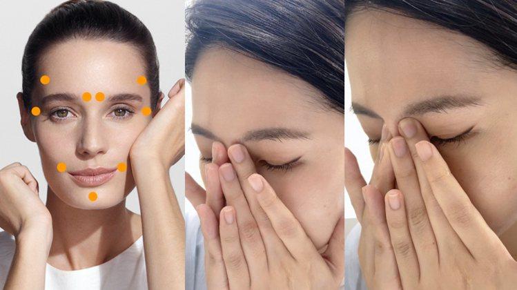 圖/Bella儂儂提供 眉頭眼凹處(攢竹穴–舒緩眼周不適)