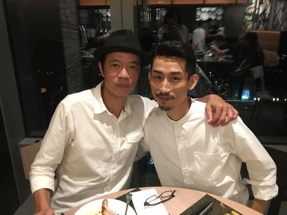 陳竹昇(右)分享與吳朋奉合照。圖/摘自臉書