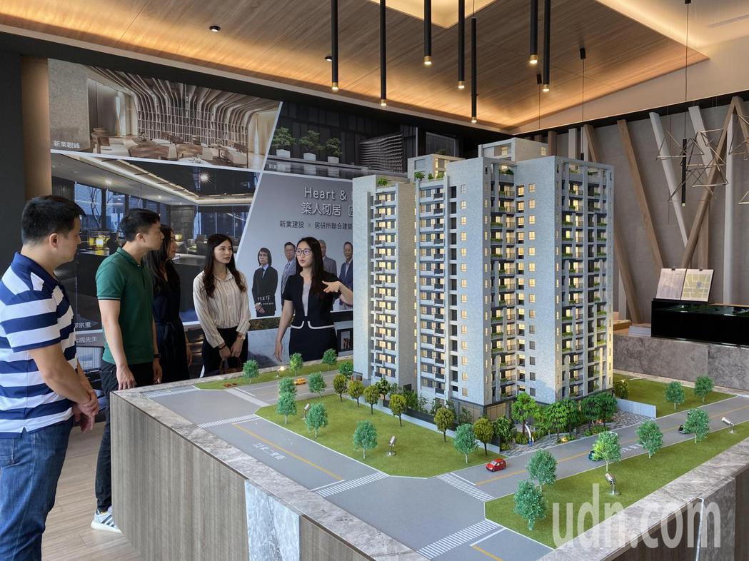 新業建設在台中市東區積極購地,第一案「新業自由居」銷售破七成,近期防疫新生活,吸...