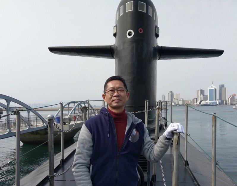 自256潛艦戰隊退役的海軍備役上校王志鵬,自稱是「火眼孤狼」,秉時潛艦專業。圖:取自王志鵬臉書網頁