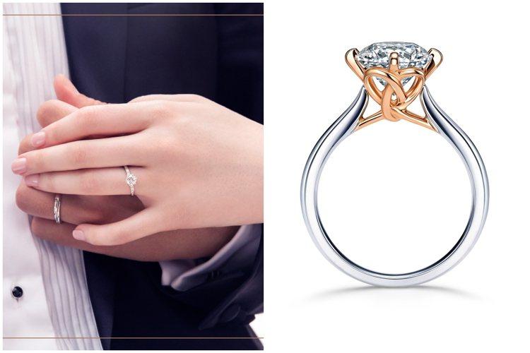 點睛品推出鑽戒訂製服務與「囍悅盈門」婚嫁禮遇回饋金專案。圖/點睛品提供