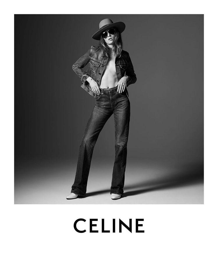 CELINE在2020春夏以丹寧風潮為主視覺。圖/CELINE BY HEDI ...
