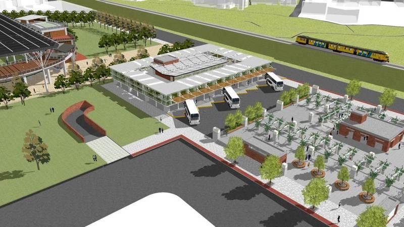 竹東交轉中心預計興建地下2層停車場,可提供248個汽車停車位,地上1層為多功能旅遊綜合服務中心,將設10個公車停靠月台。圖/新竹縣政府提供