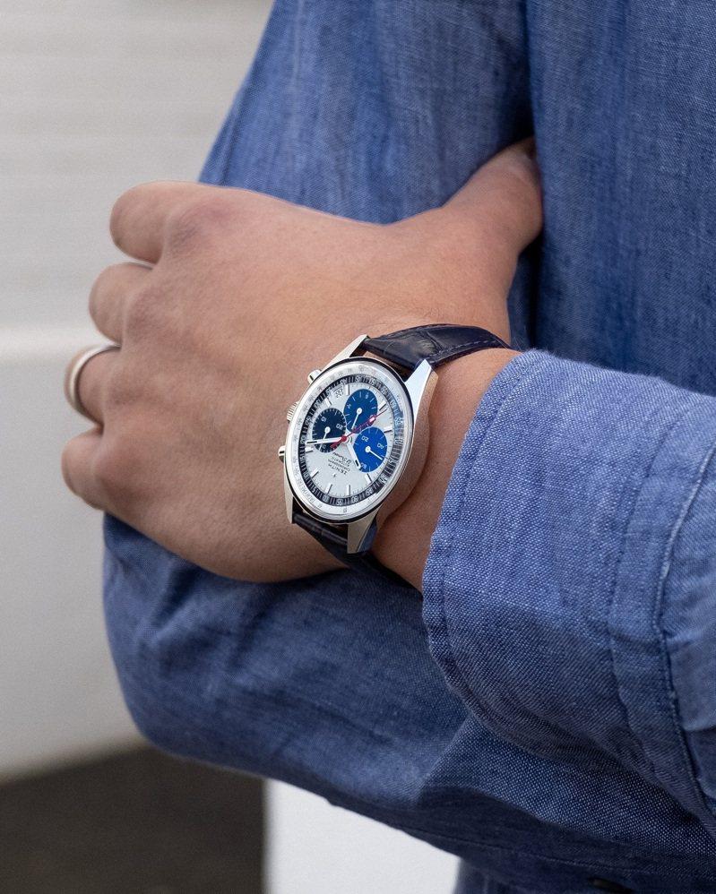 ZENITH CHRONOMASTER系列工坊及官網專售復刻版腕表,8,900瑞士法郎。圖/真力時提供