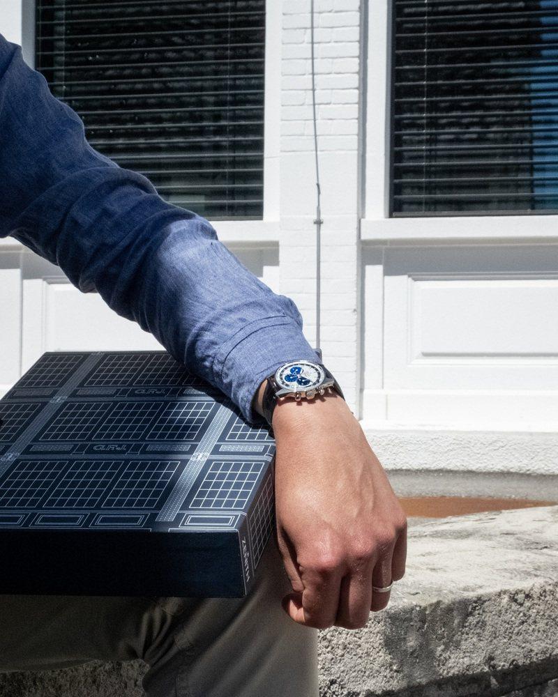 ZENITH CHRONOMASTER系列工坊及官網專售復刻版腕表特製包裝有如一本書。圖/真力時提供