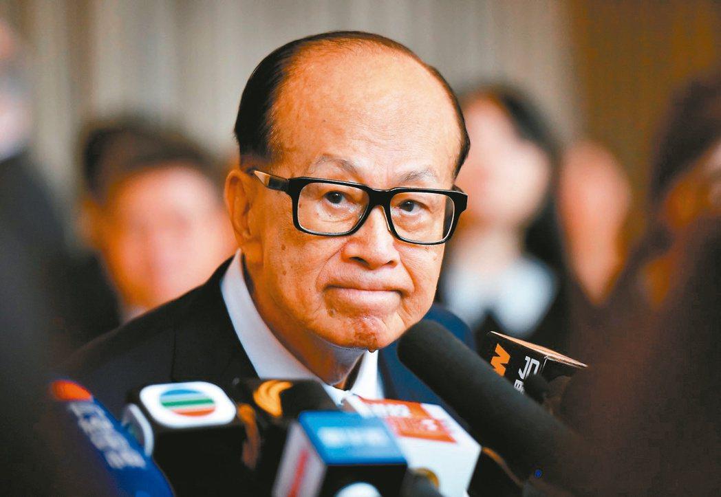 香港長和集團高級顧問李嘉誠  中新社