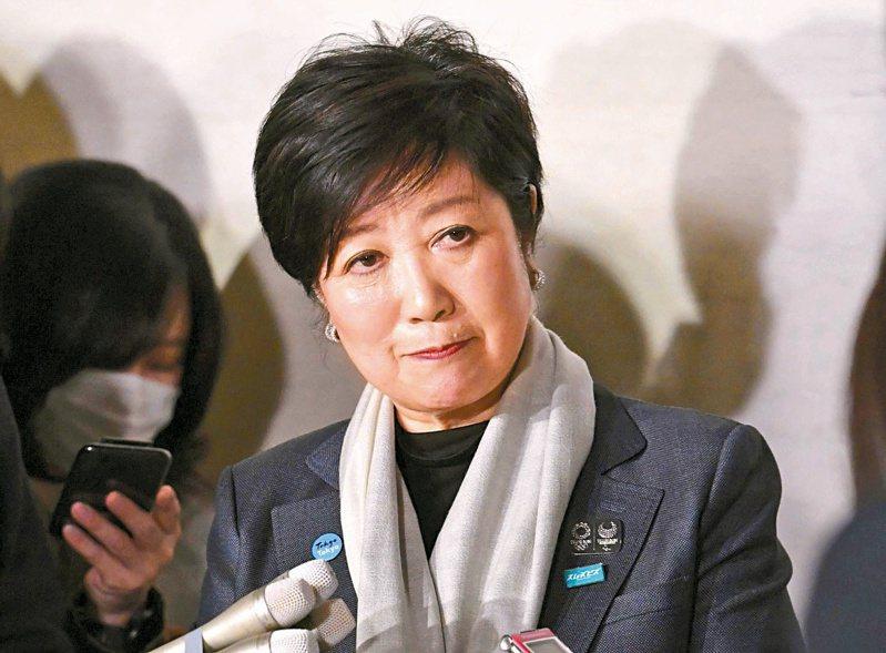 東京都知事小池百合子有意角逐連任且勝算頗高。(路透)