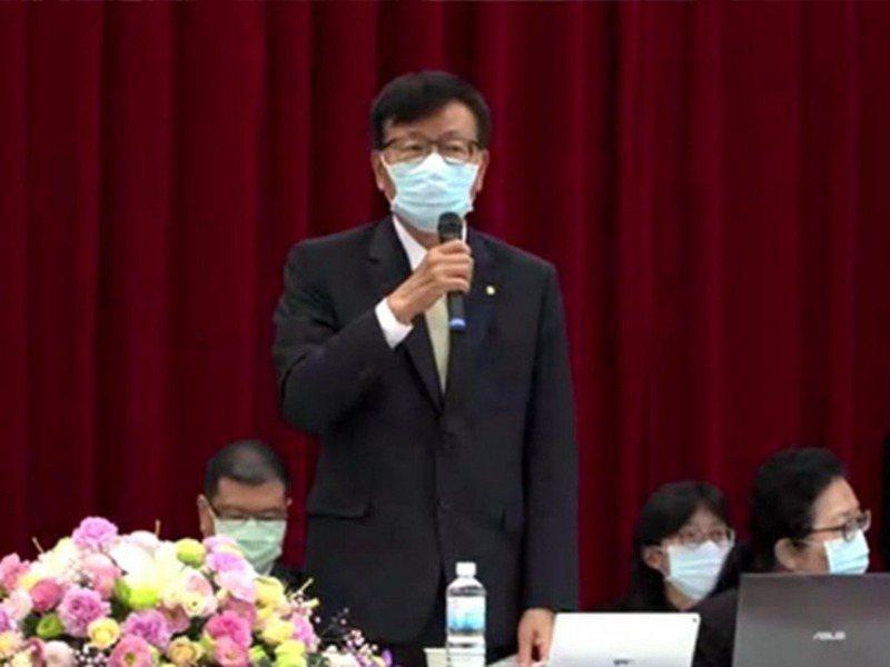 長榮航空董事長林寶水。截取自直播畫面