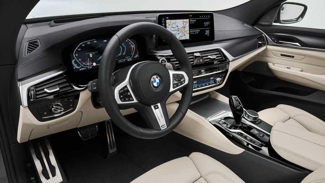 小改款BMW 6 Series Gran Turismo內裝。 摘自BMW