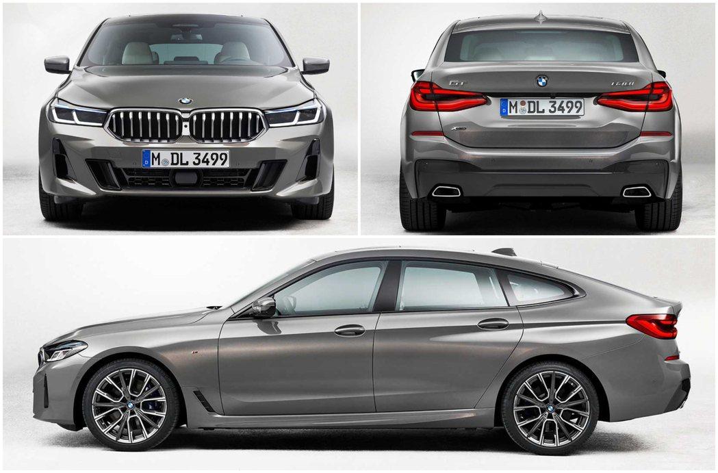 小改款BMW 6 Series Gran Turismo車身尺碼未有更動。 摘自...