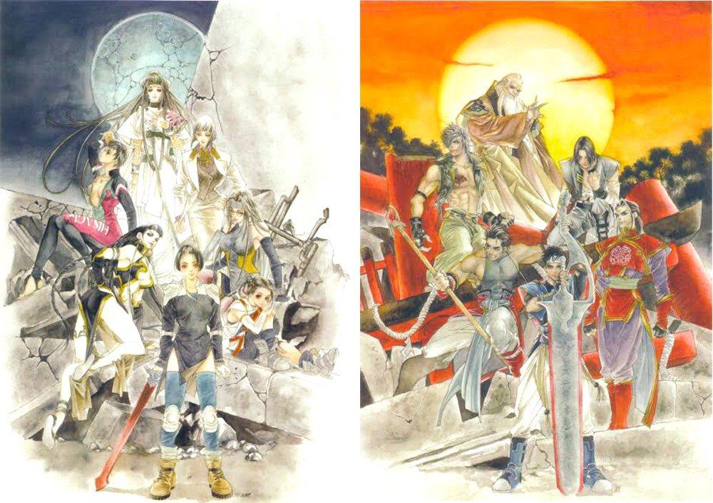 同樣由皇名月所繪製的其他雙界儀遊戲與遊戲原聲帶封面。