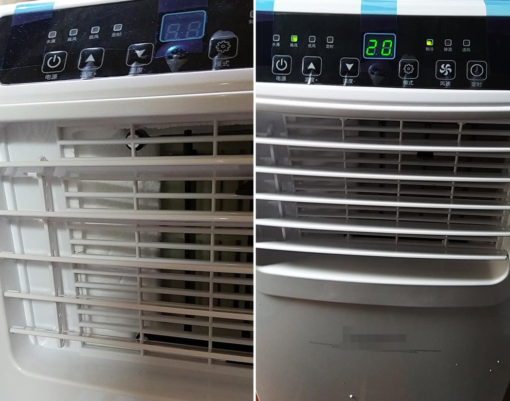 一名網友買了一台移動式空調,但壓縮機聲音之大讓他很受不了。 圖/翻攝自爆廢公社