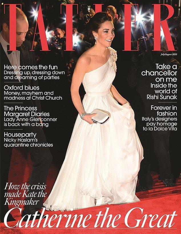 凱特成為本期雜誌封面,完美的外表背後真正面貌也被揭露。圖/摘自Tatler