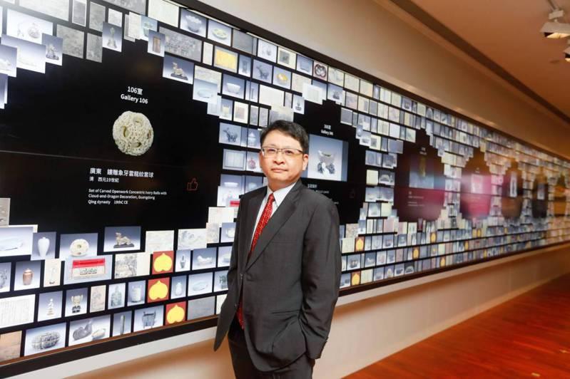 友達新事業暨投資管理總部副總經理楊本豫,27日出席友達攜手創利空間為故宮建置的智慧文物互動導覽牆啟用典禮。友達/提供