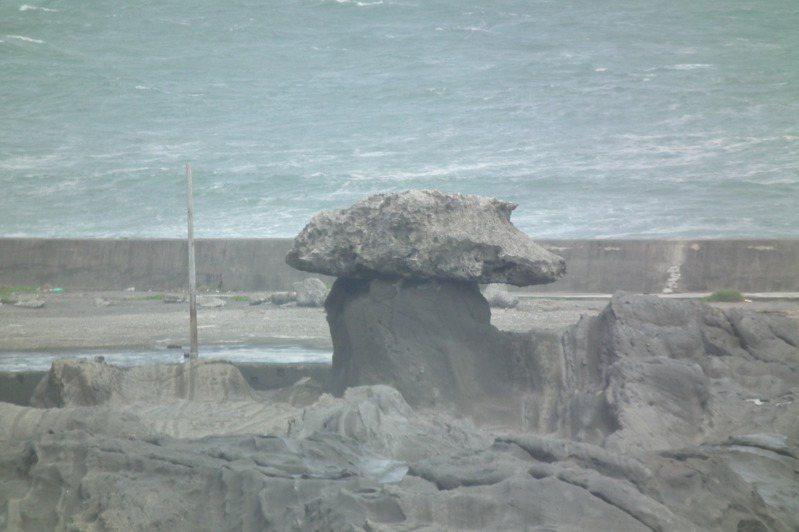 台東東海岸知名風景區「石雨傘」目前僅剩1支。本報資料照片