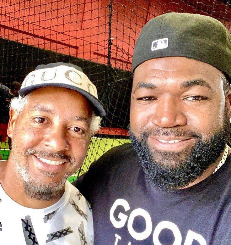 歐提茲(右)貼出與曼尼的合照,勾起紅襪球迷回憶。 圖/擷自歐提茲IG