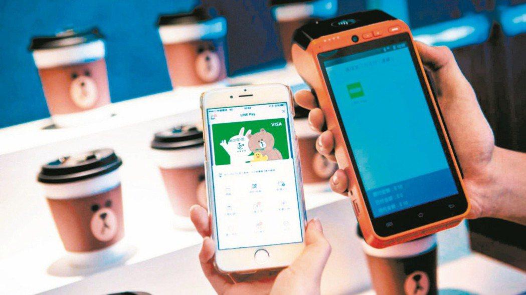 電子支付使用者越來越多。本報資料照片