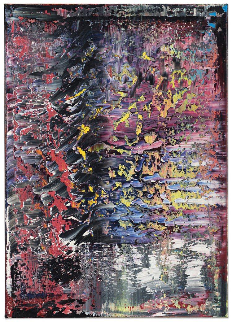 傑哈德李希特《霜(1)》1989年作油畫,估價約4,800萬港元起。圖/佳士得提...