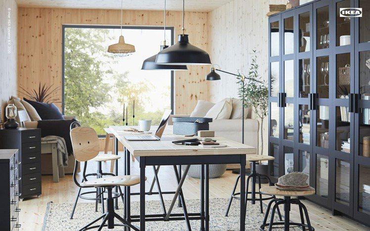 IKEA推出12款北歐風虛擬背景,讓視訊會議不再尷尬。圖/IKEA提供