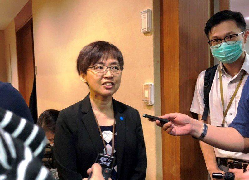 文化部人文及出版司司長陳瑩芳(左)。記者賴于榛/攝影