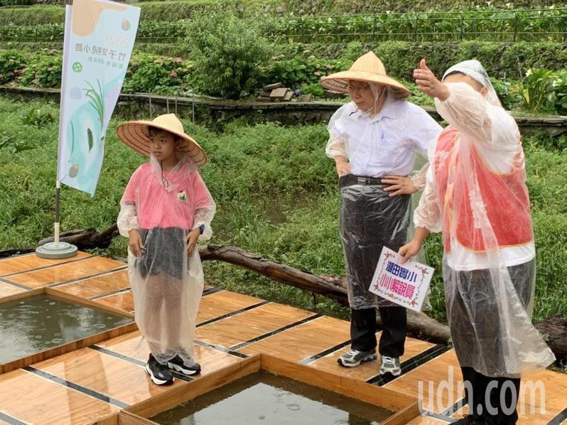 柯文哲今早出席台灣水韭復育活動。記者趙宥寧/攝影
