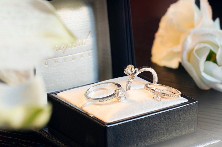 蕭邦婚戒系列提供訂製服務。圖/蕭邦提供