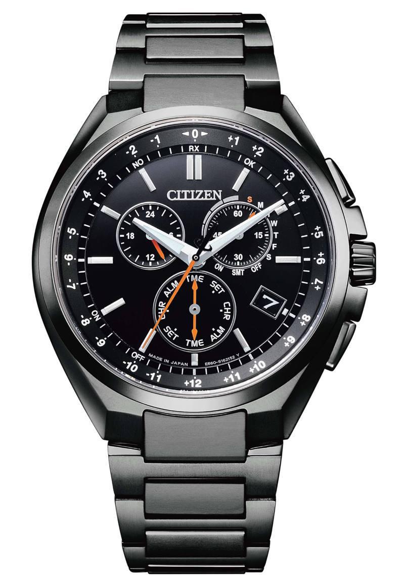 CB5045-60E腕表,鈦金屬表殼、表鍊36,800元。圖/CITIZEN提供