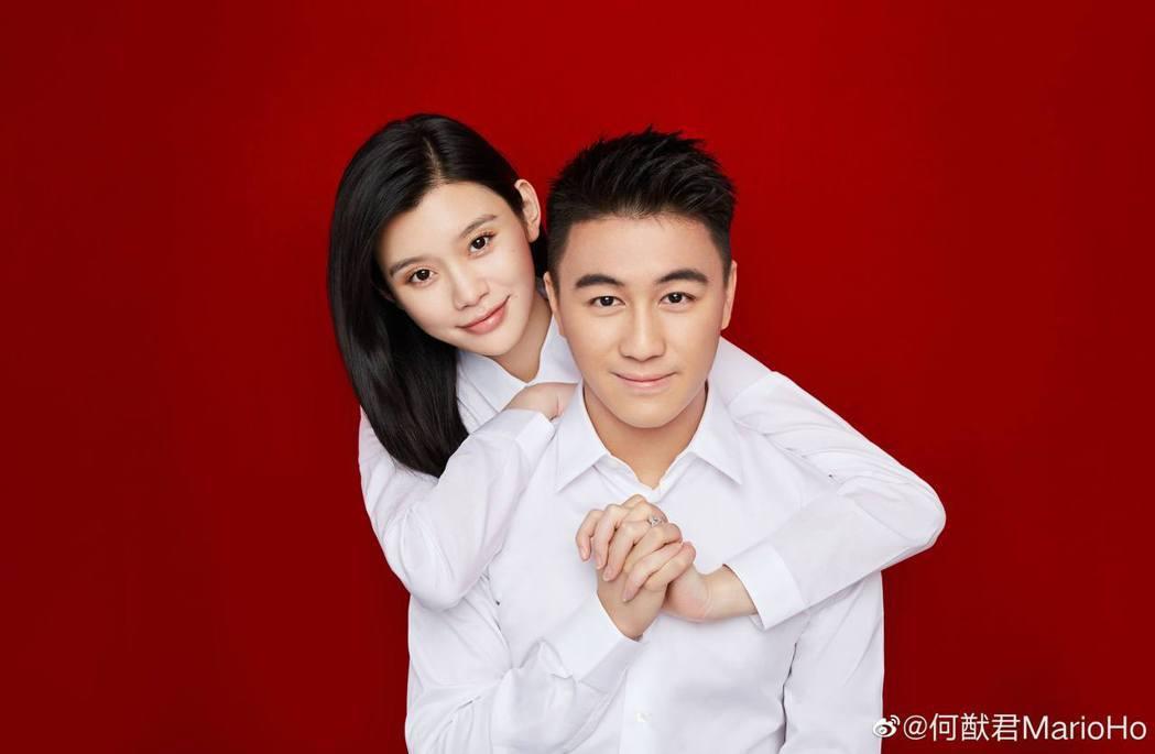 奚夢瑤(左)替何家生下金孫,一舉一動被關注。圖/摘自微博