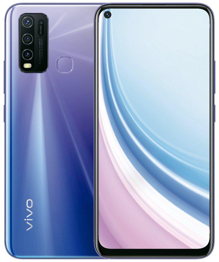vivo Y50將於6月1日開賣,搭載前後共5顆鏡頭、5,000mAh大電量。圖...
