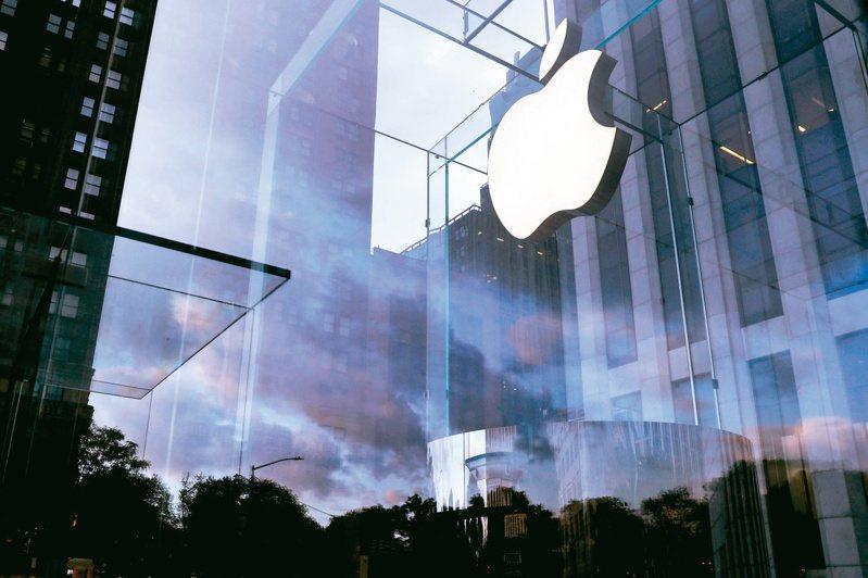 蘋果28日早盤股價續揚,市值一度超越微軟。(路透)