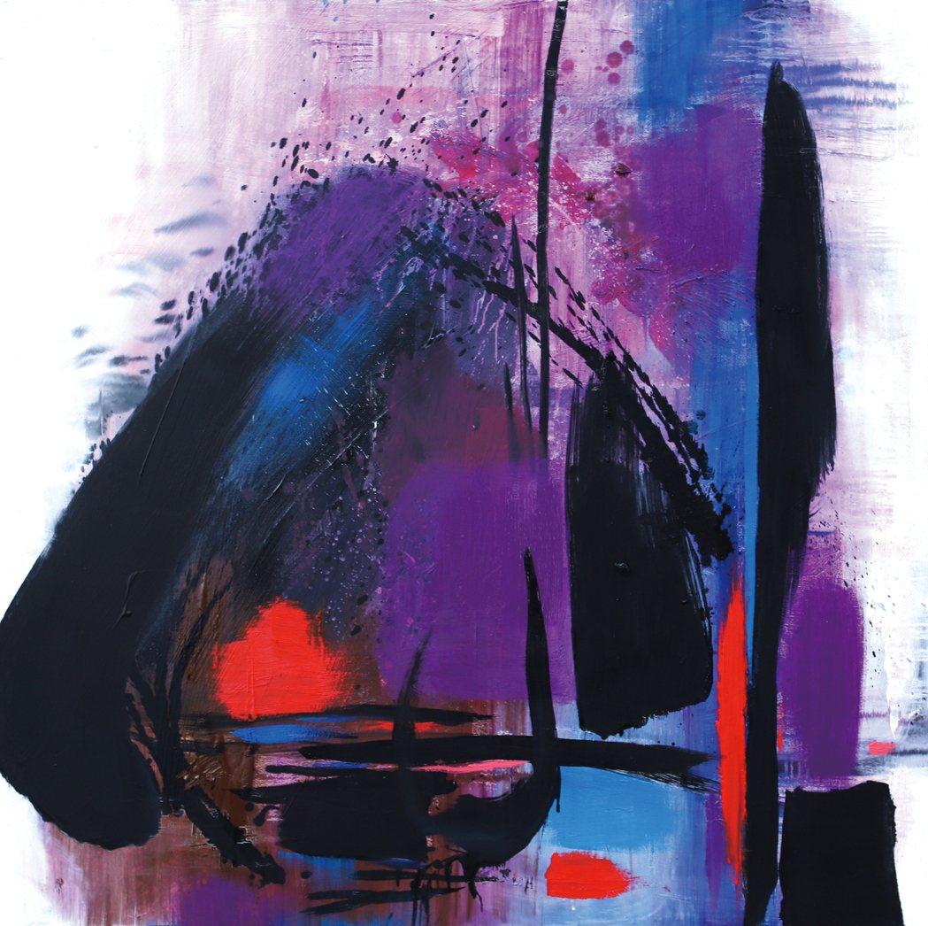 吳日勤2020作品-紫色浪漫 150x150。羅丹藝境/提供