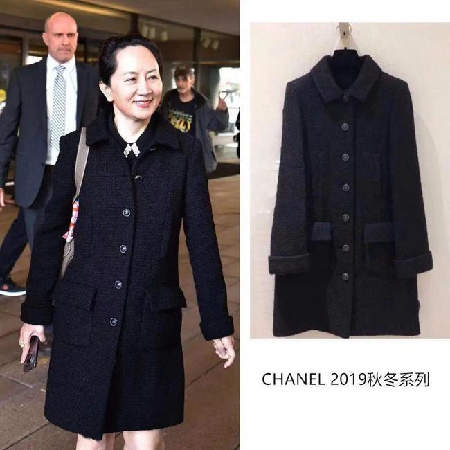 Chanel斜紋軟呢大衣。 圖/翻攝自網路