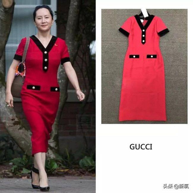 紅裙子來自Gucci19年秋冬系列。 圖/翻攝自網路
