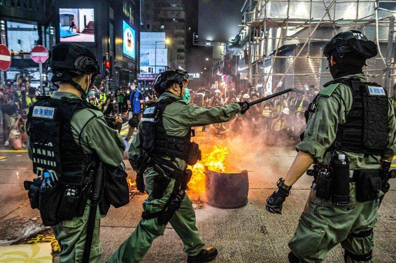 人大制定港版國安法,香港掀一波表態潮。 法新社