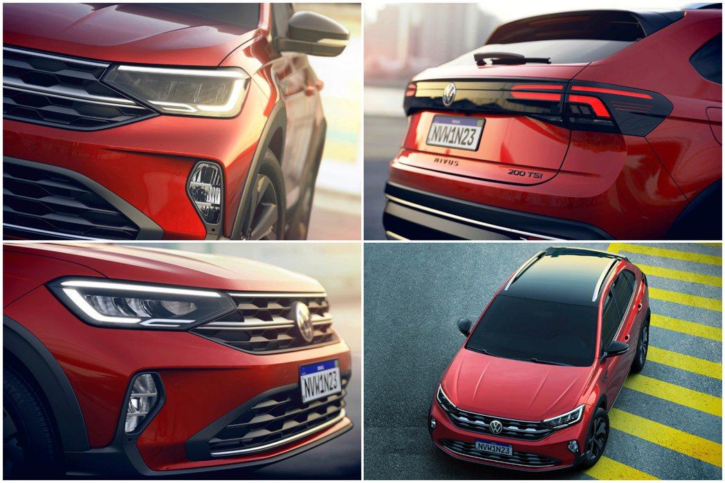 全新Volkswagen Nivus高階車型全部標配LED燈組,就連霧燈也都是L...