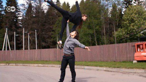 莫斯科郊外的舞蹈家。圖/德國之聲