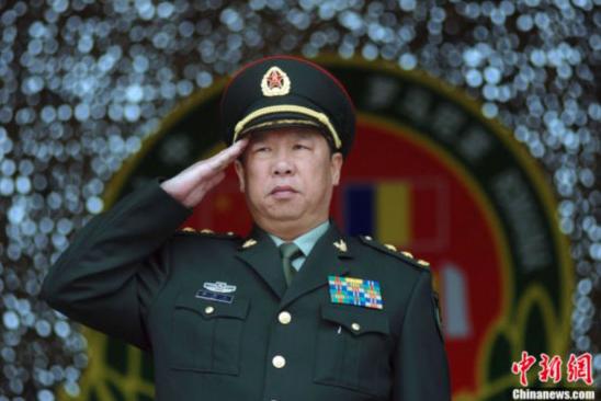 中共中央軍委聯合參謀部參謀長李作成指出,解放軍將採取一切必要措施,堅決粉碎任何分裂圖謀和行徑。(中新社)