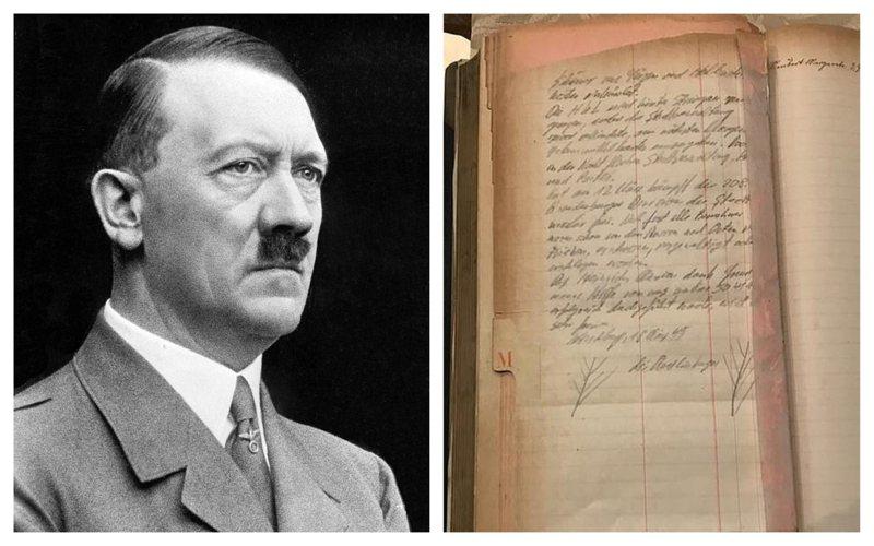 納粹黨衛軍一本軍官日記記載,當二戰敗象已現,希特勒(左)派出260輛卡車裝滿黃金財寶,藏到西里西亞省各地。這批寶藏也被稱為失落的「納粹黃金」。圖/摘自維基百科、每日郵報