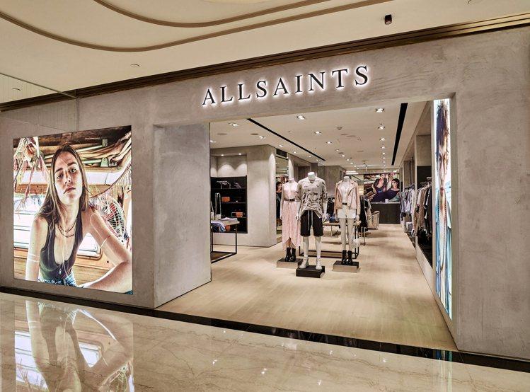 AllSaints亞洲首間概念店落腳微風信義百貨,有別以往改以更明亮的色彩來裝潢...