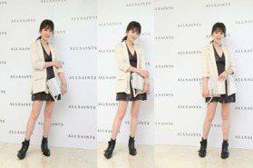時尚媽咪Melody秀美腿 加持AllSaints亞洲首間概念店