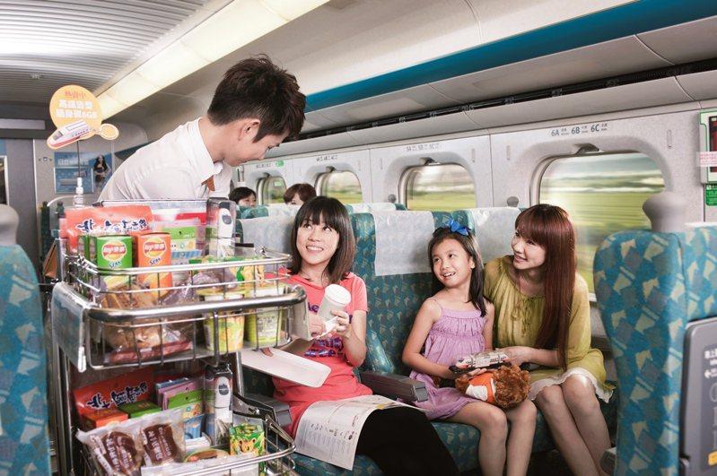 交通部表示,雙鐵有機會在6月7日恢復列車內的便當等商品販售。圖/台灣高鐵提供