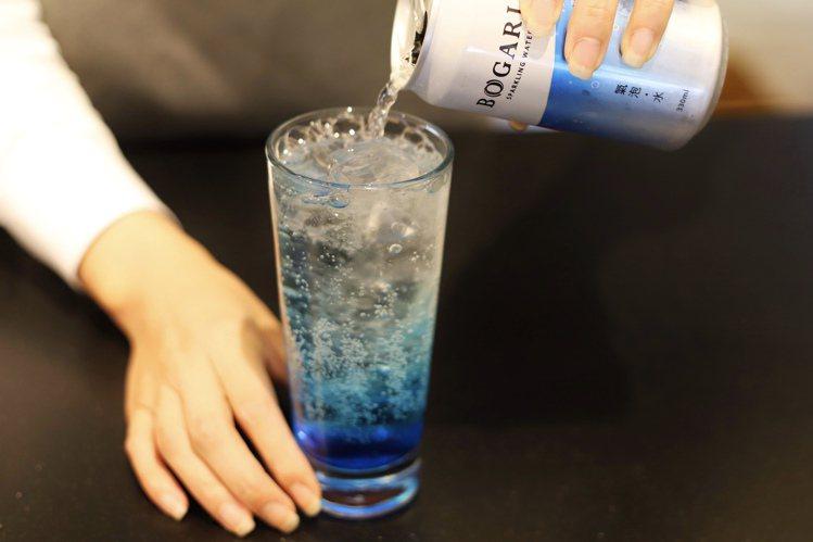 療癒型經濟帶動夏季餐飲市場商機,開元推BOGARI氣泡水。圖/開元提供