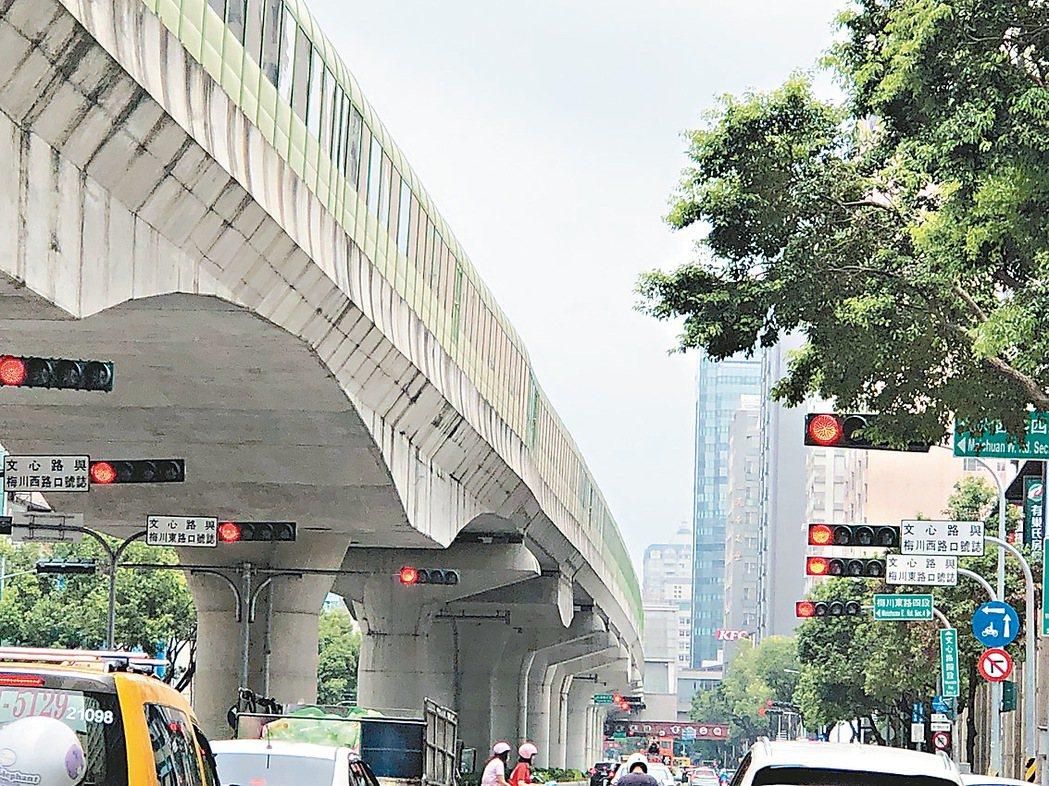 台中市的紅綠燈號誌數量,已居全台第一高。記者張明慧/攝影