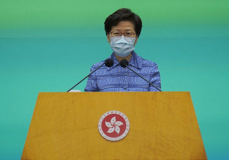 香港特首林鄭月娥。 美聯社