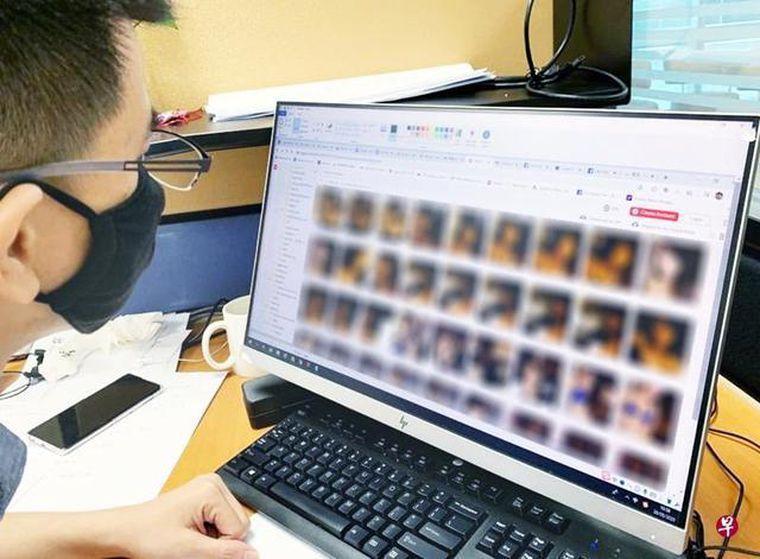 新加坡驚見色情雲端資料庫,星中港台300女性裸照性愛片。圖/世界日報提供