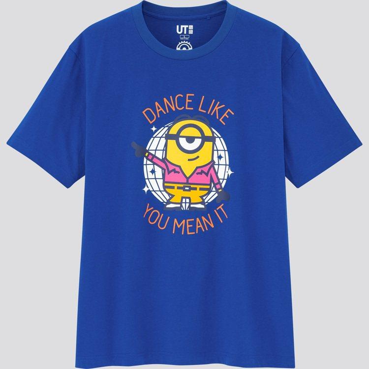 UNIQLO UT小小兵系列印花T恤390元。圖/UNIQLO提供
