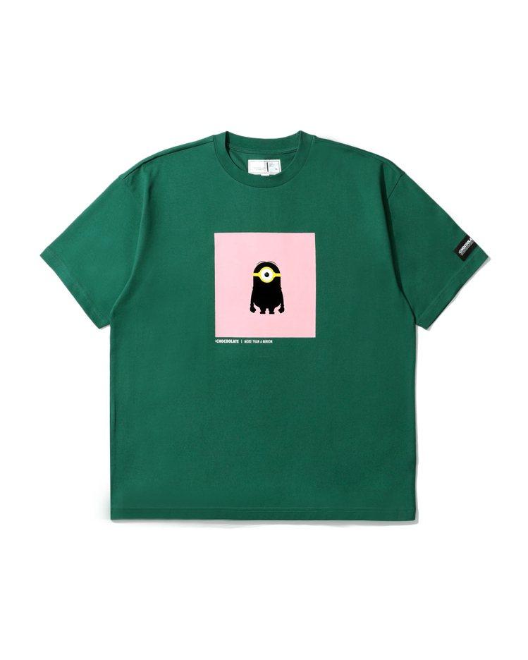 :CHOCOOLATE小小兵聯名系列植絨T恤1,399元。圖/I.T提供